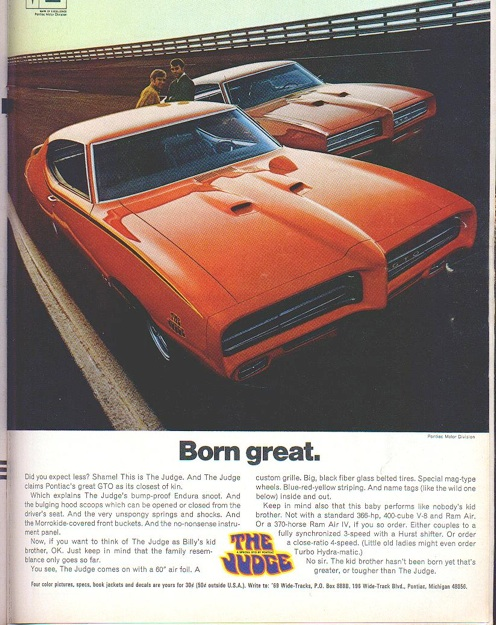 1969 Pontiac GTO Judge Registry